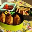 【塾弁当】お稲荷さんと鶏団子