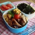【塾弁当】鶏モモのクレージーソルトソテーとイカの甘辛