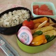 【塾弁当】海老寄せフライとアメリカンドック(冷食)