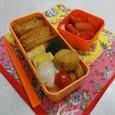 【中学弁当】かぼちゃコロッケとお稲荷さん