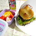 【高校弁当】照焼チキンバーガー