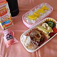 【高校弁当】豚の生姜焼き