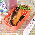 【高校弁当】鮭弁