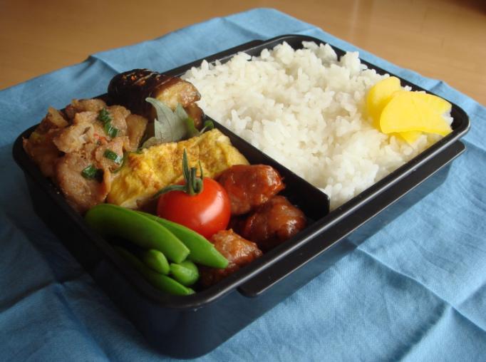 【旦那】豚焼き肉と茄子味噌