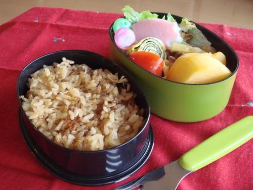 【塾弁】ホタテの炊き込みご飯