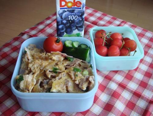 【塾弁当】豚の卵とじ丼