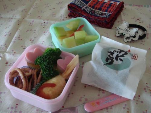 【塾弁当】イカ焼き、味玉