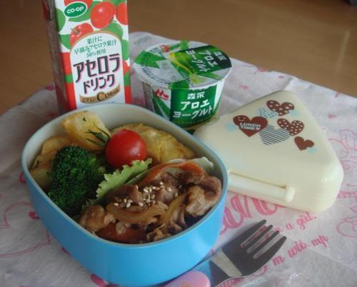 【塾弁当】豚の生姜焼き