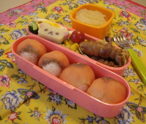 【中学弁当】サーモンの手まり寿司