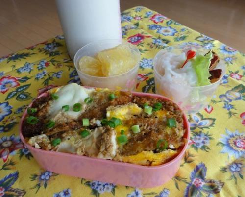 【中学弁当】チキンカツ丼