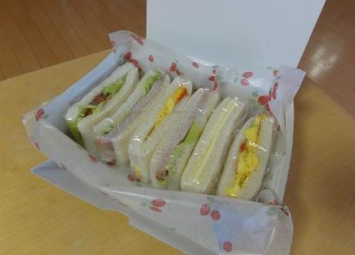 【夏の合宿弁当】サンドイッチ
