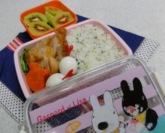 【中学弁当】鶏照り焼き