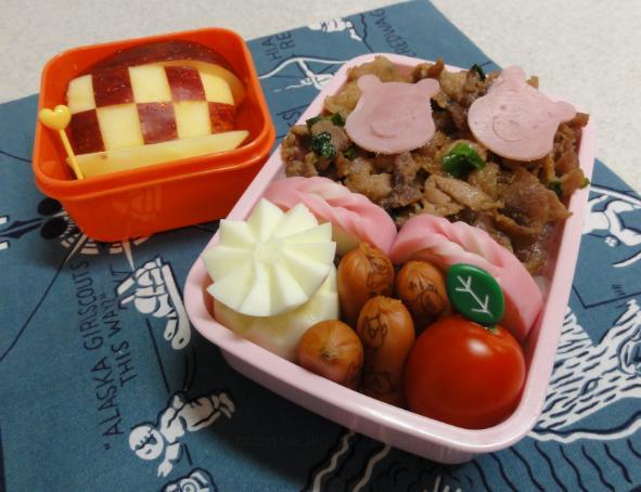 【中学弁当】豚の生姜焼き
