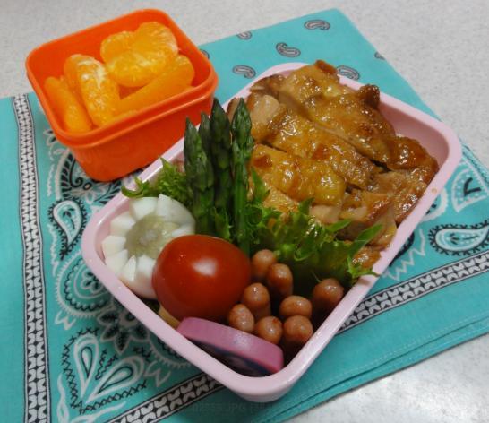 【中学弁当】鶏の照り焼き丼