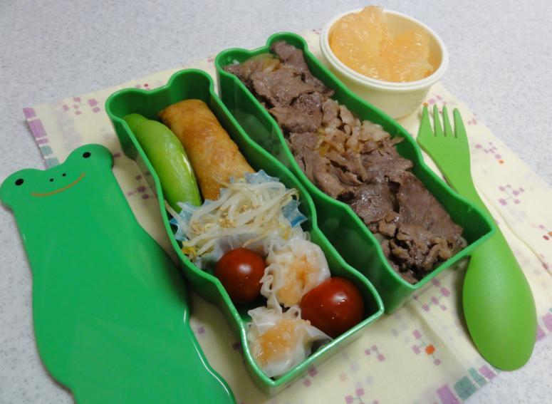 【中学弁当】牛丼