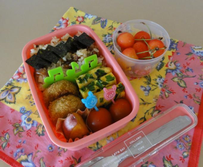 【夏の部活弁当】鰻の混ぜごはん