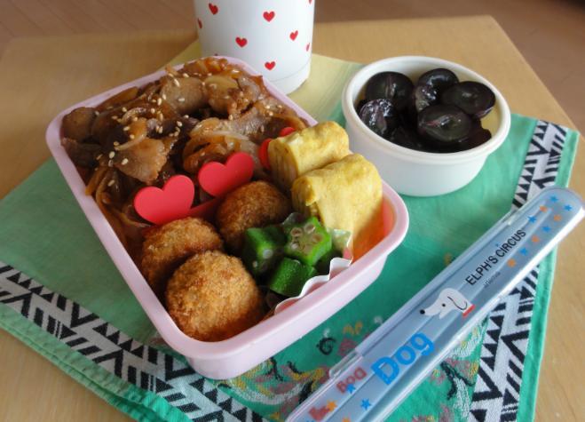 【夏の部活弁当】豚丼