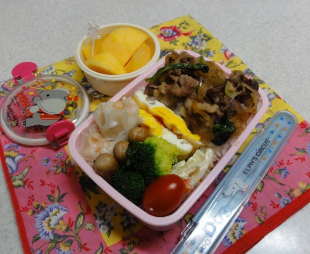 【中学弁当】牛肉炒め
