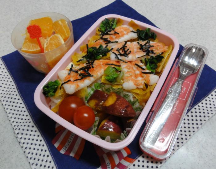 【中学弁当】海老ちらし寿司