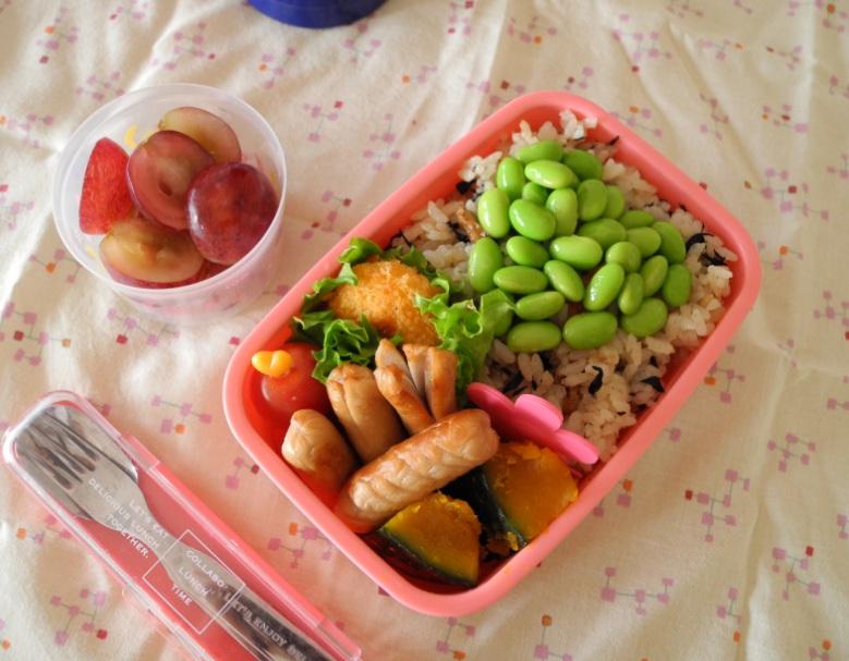 【中学弁当】ひじきの炊き込みご飯