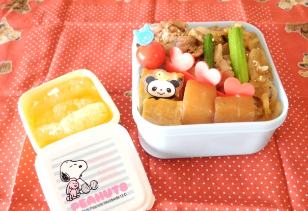 【中学弁当】豚肉のっけごはん