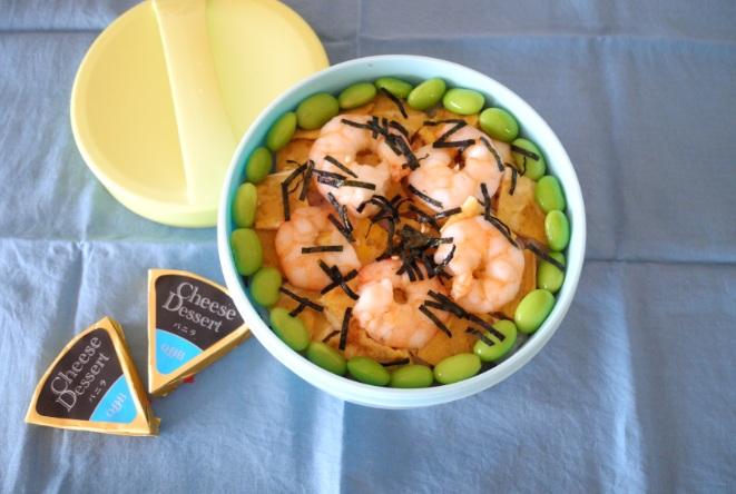 【中学弁当】エビちらし寿司
