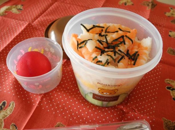 【部活弁当】エビちらし寿司