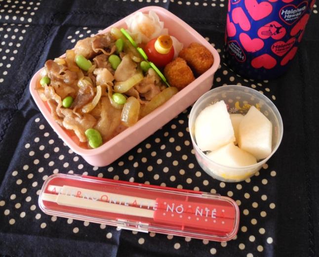 【中学弁当】豚丼