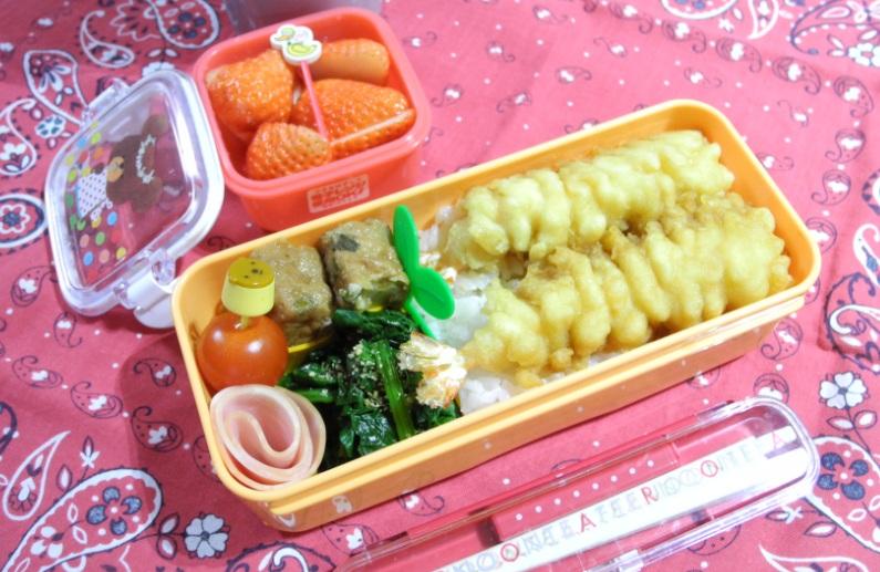 【中学弁当】エビ天丼