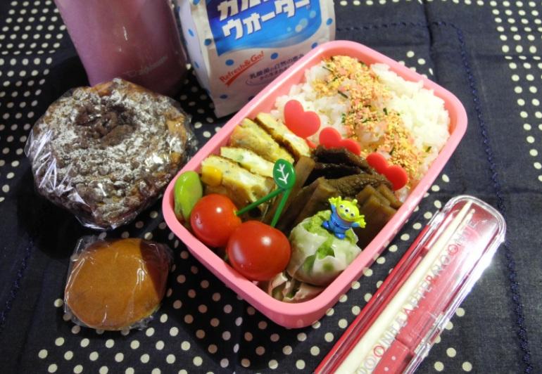 【高校弁当】牛肉とゴボウ甘辛