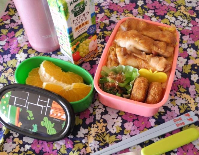 【高校弁当】鶏照丼