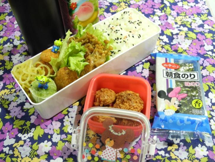 【高校弁当】豚きのこ巻き