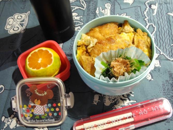 【高校弁当】カツ丼