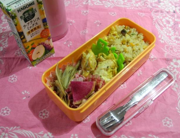 【高校弁当】焼き豚チャーハン