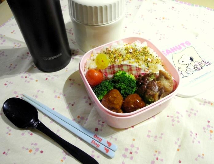 【高校弁当】マグロソテーと豚汁