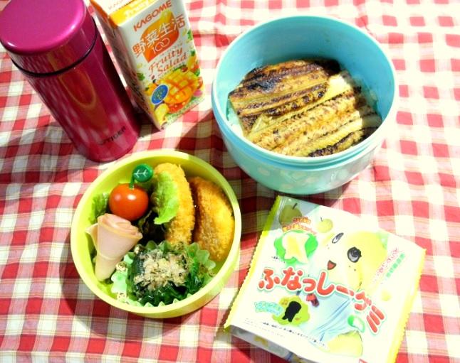 【高校弁当】穴子丼