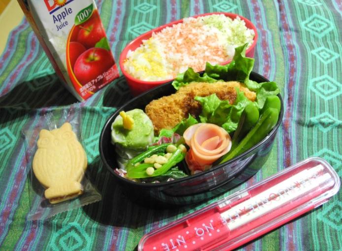【高校弁当】鮭タルタルフライ