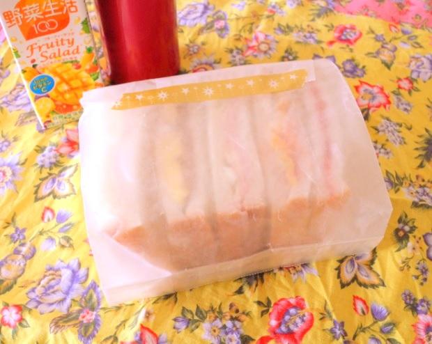 【高校弁当】スパムサンドイッチ