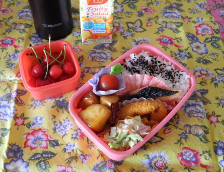 【高校弁当】焼き鮭