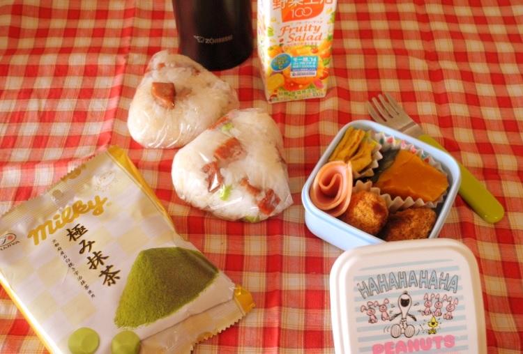 【高校弁当】スパムと枝豆のおにぎり