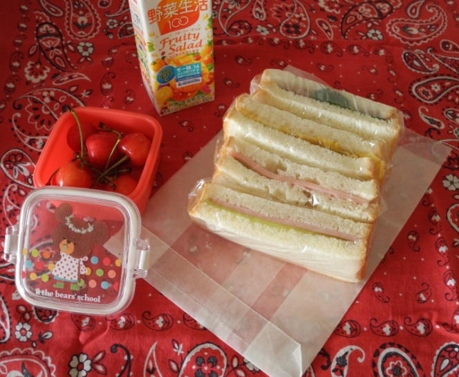 【高校弁当】サンドイッチ