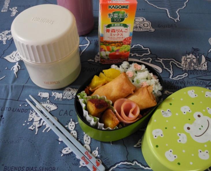 【高校弁当】ワカメごはんと味噌汁