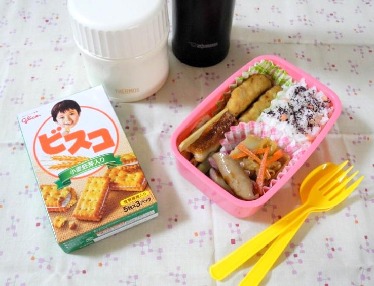 【高校弁当】鶏つくね串とスープ