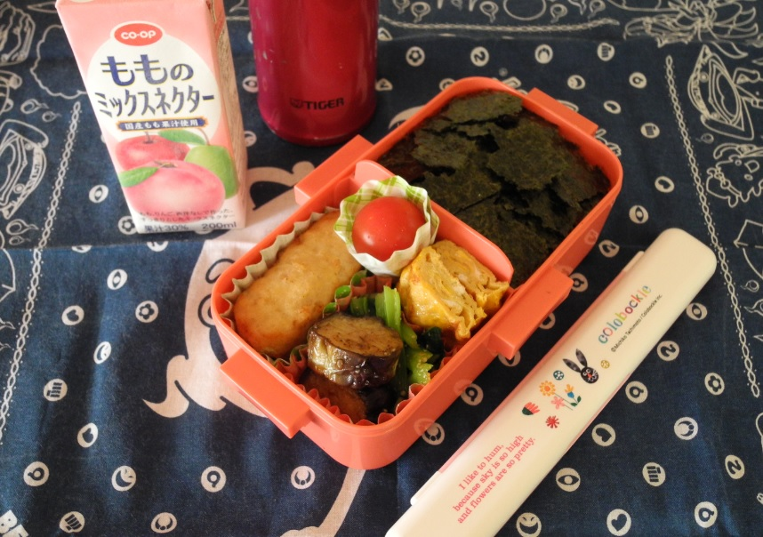 【高校弁当】海苔弁